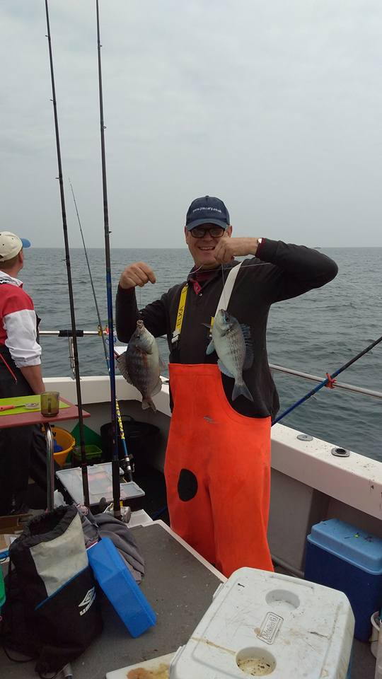 Ray Double shot bream Dancing Ledge