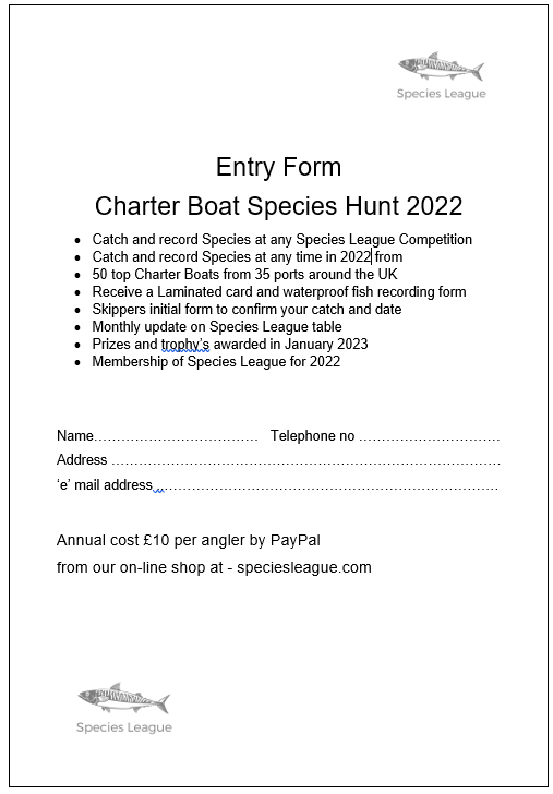 charter-boat-species-hunt-2022-entry-form